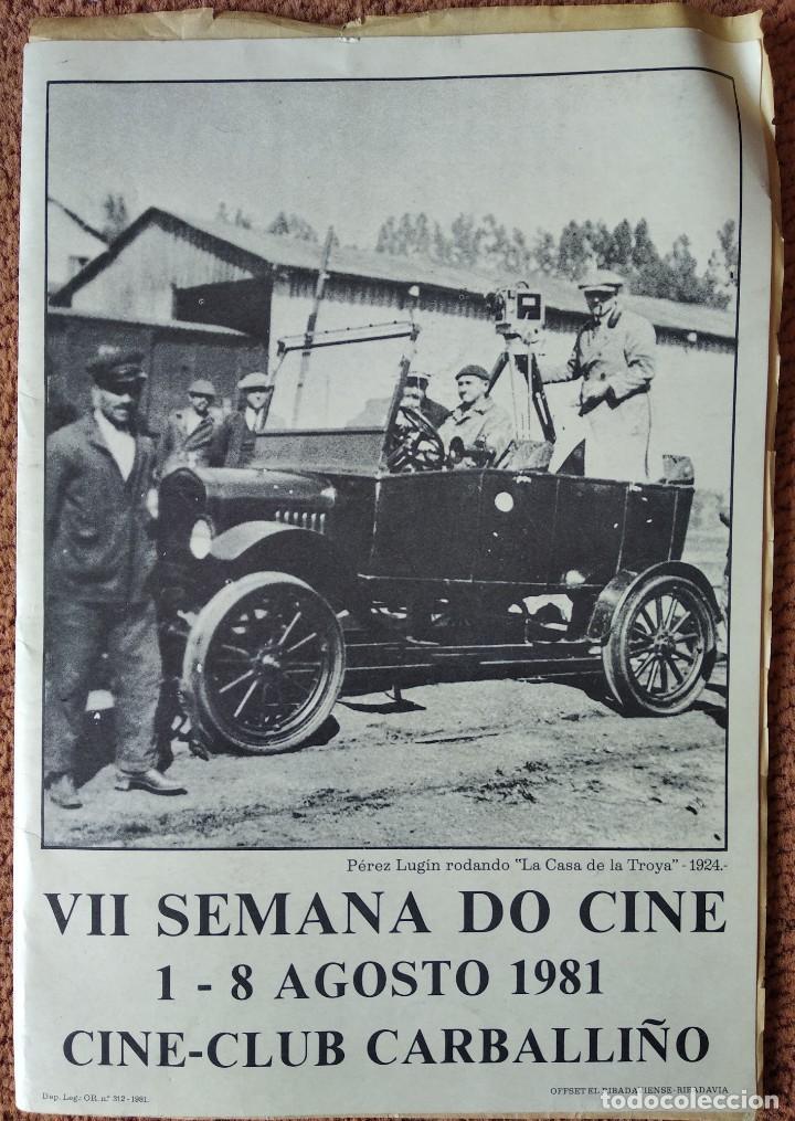 CARPETA PROGRAMA VII SEMANA DO CINE 1981 CARBALLIÑO (Cine - Revistas - Acción)