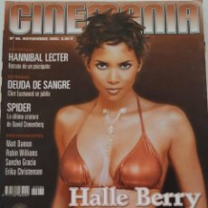 Cine: REVISTA CINEMANÍA Nº 86 HALLE BERRY JAMES BOND TERMINATOR MATT DAMON LEONOR WATLING AL PACINO. Lote 220855395