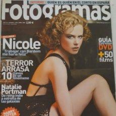 Cine: REVISTA FOTOGRAMAS Nº 1938 NICOLE KIDMAN NATALIE PORTMAN AMENABAR AISHWARYA RAI HARRY POTTER. Lote 220857083