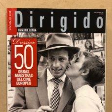 Cine: DIRIGIDO POR N° 340 (2004). DOSSIER 50 OBRAS MAESTRAS DEL CINE EUROPEO, OLIVER STONE, GODARD,.. Lote 220983821