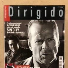 Cine: DIRIGIDO POR N° 346 (2005). DOSSIER ESPECIAL SUPERHÉROES DEL CÓMIC AL CINE, FRANK MILLER, MARIO BRAV. Lote 220984115