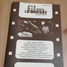 Cine: REVISTA LITERATURE / FILM QUARTERLY VOL. 27, NO. 4 (1999) DIALOGUE ON THE HOLLYWOOD JEWS. Lote 221164678