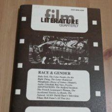 Cine: REVISTA LITERATURE / FILM QUARTERLY VOL. 24, NO. 1 (1996) RACE & GENDER. Lote 221165088