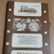 Cine: REVISTA LITERATURE / FILM QUARTERLY VOL. 25, NO. 1 (STATE OF THE ART - 25 YEARS LATER). Lote 221165171