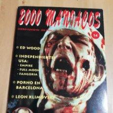 Cine: REVISTA 2000 MANIACOS Nº 14 (ENERO / JUNIO 1994) EL REGRESO DE GEORGE A. ROMERO. Lote 221165863