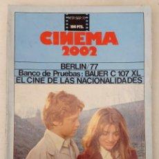 Cine: REVISTA - CINEMA 2002 - NÚMERO 31. SEPTIEMBRE 1977.. Lote 221232342
