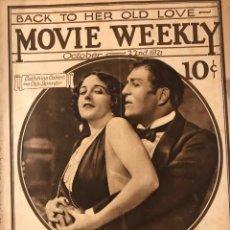 Cine: MOVIE WEEKLY OCTOBER 1921 CATHERINE CALVENT. OTIS SKINNER. Lote 221291277