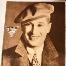 Cine: POPULAR FILM ABRIL 1930 NUM 195 MAURICE CHAVALIER. Lote 221292808
