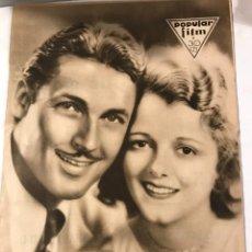 Cine: POPULAR FILM NOVIEMBRE 1930 NUM 224 JANET GAYNOR Y CHARLES FARRELL. Lote 221293918