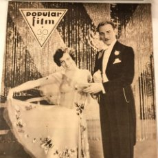 Cine: POPULAR FILM FEBRERO 1930 NUM 186 JOAN GRAWFORD CONRAD NAGEL. Lote 221294152