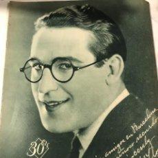 Cine: POPULAR FILM OCTUBRE 1929 NUM 167 HAROLD LLOYD. Lote 221296175