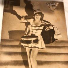 Cine: POPULAR FILM ENERO 1931 NUM 230 ANITA PAGE JONH WAYNE. Lote 221296696