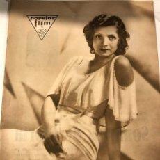 Cine: POPULAR FILM ENERO 1931 NUM 232 ANITA MONTENEGRO AL JOLSON. Lote 221297328