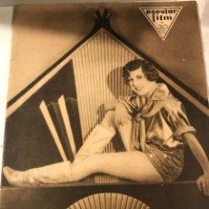 Cine: POPULAR FILM OCTUBRE 1930 NUM 222 NAMCY BELFORD CLAIRE WINDSOR RICARDO CORTES. Lote 221298477