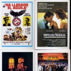 Cine: EDIFICHAS - LOTE 12 FICHAS, REPRODUCCIONES CARTELES, FICHA DE LA PELICULA AL DORSO- VER FOTOS ADIC.. Lote 221363567
