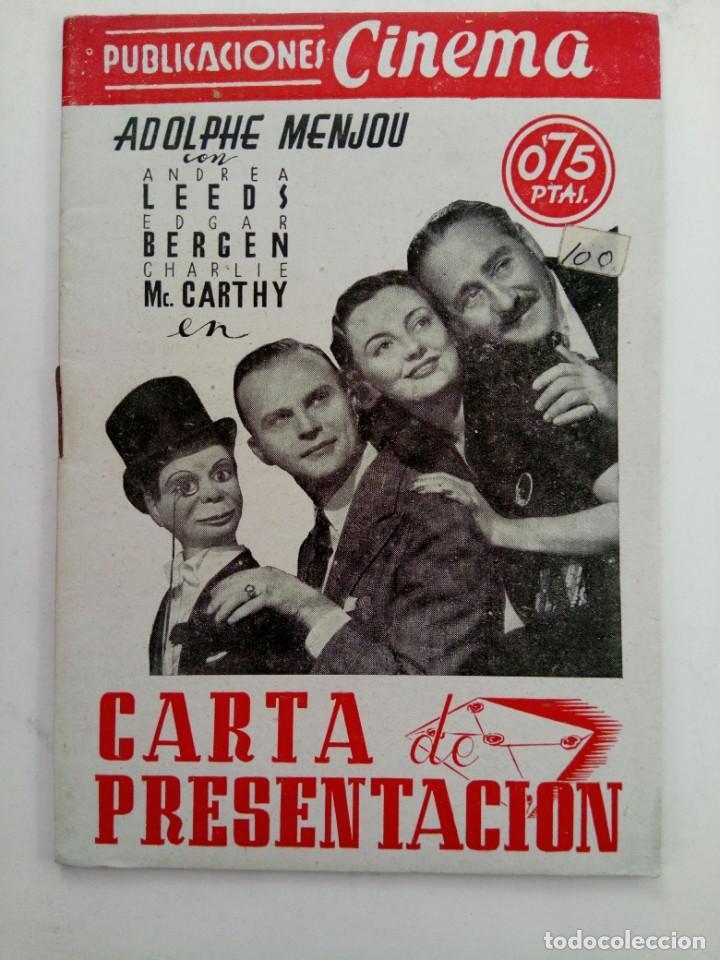 PUBLICACIONES CINEMA Nº79 - CARTA DE PRESENTACIÓN (Cine - Revistas - Cinema)