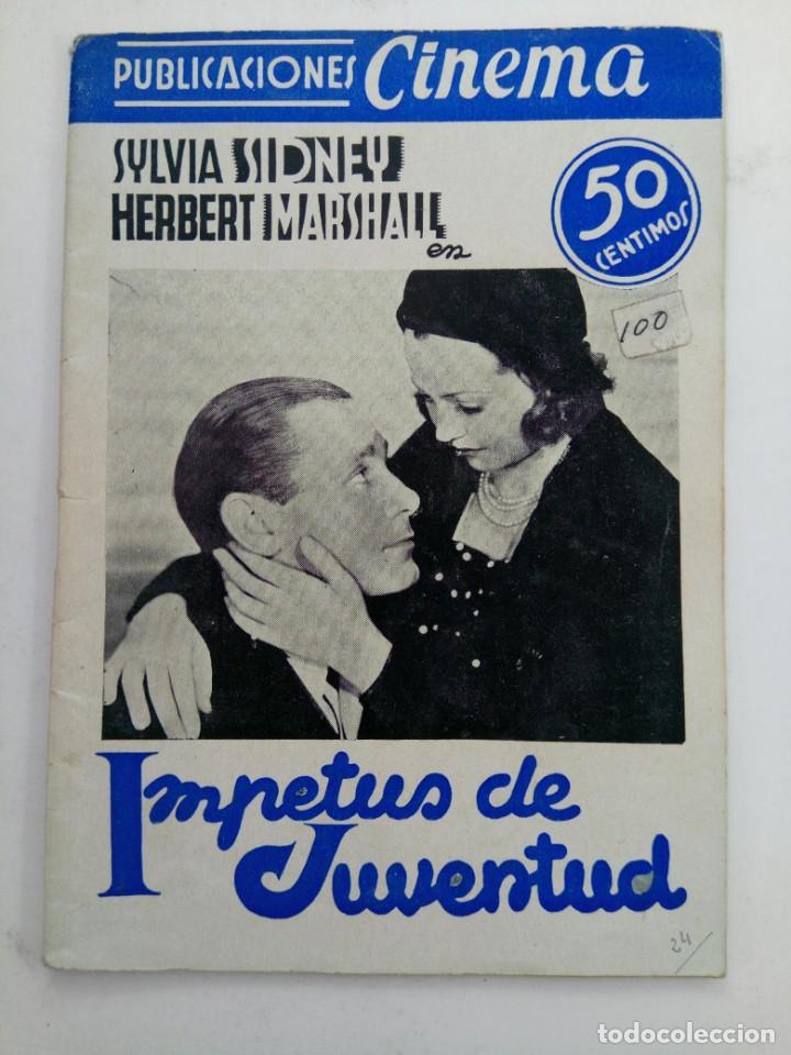 PUBLICACIONES CINEMA Nº 24 - IMPETUS DE JUVENTUD (Cine - Revistas - Cinema)