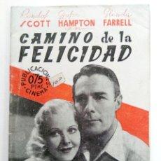 Cine: PUBLICACIONES CINEMA Nº 81 - CAMINO DE LA FELICIDAD. Lote 221373912