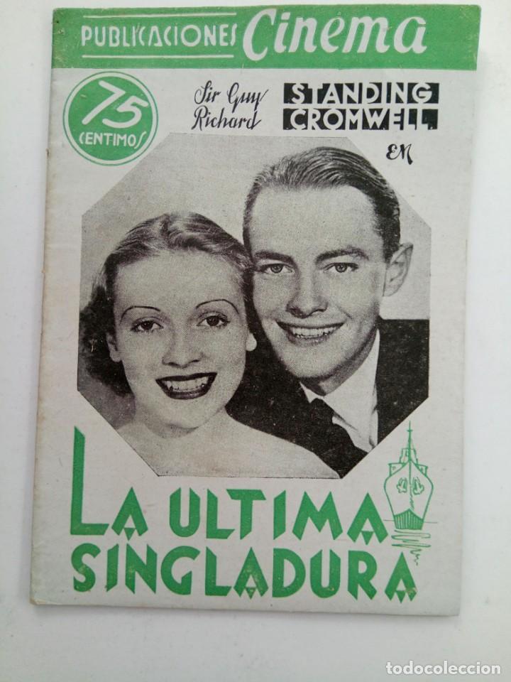 PUBLICACIONES CINEMA Nº 72 - LA ÚLTIMA SINGLADURA (Cine - Revistas - Cinema)