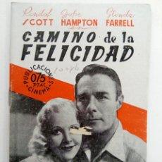 Cine: PUBLICACIONES CINEMA Nº 81 - CAMINO DE LA FELICIDAD. Lote 221374312