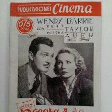 Cine: PUBLICACIONES CINEMA Nº 73 - RECETA DE AMOR. Lote 221374371
