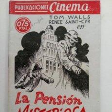 Cine: PUBLICACIONES CINEMA Nº 77 - LA PENSIÓN MISTERIOSA. Lote 221374436