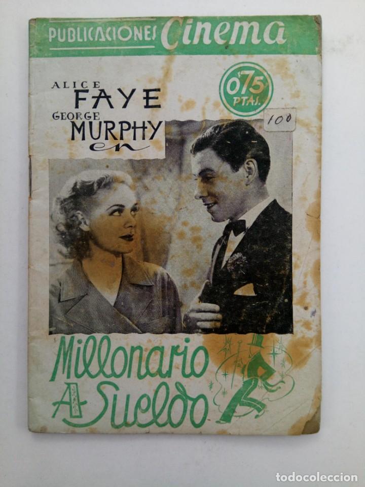 PUBLICACIONES CINEMA Nº 64 - MILLONARIO A SUELDO (Cine - Revistas - Cinema)