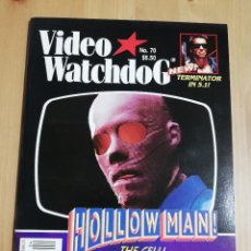 Cine: REVISTA VIDEO WATCHDOG NO. 70 (HOLLOW MAN! / AN INVESTIGATION INTO THE HAUNTINGS OF HILL HOUSE). Lote 221510913