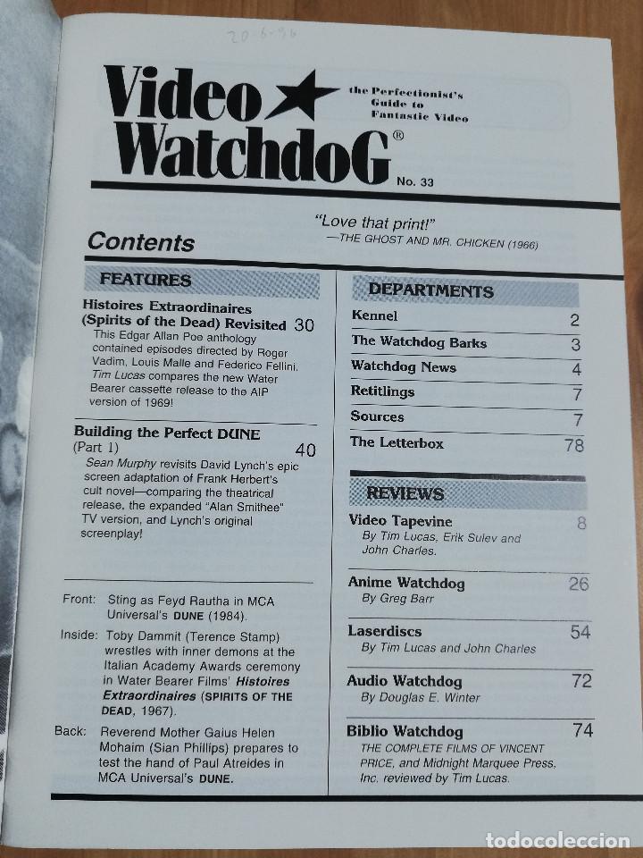 Cine: REVISTA VIDEO WATCHDOG NO. 33 (DUNE. FROM DAVID LYNCH TO ALAN SMITHEE / SPIRITS OF THE DEAD) - Foto 2 - 221511911