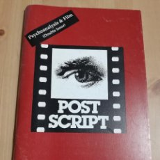 Cine: REVISTA POST SCRIPT. ESSAYS IN FILM AND THE HUMANITIES (VOLUME 14, NUMBERS 1 & 2) 1994 / 1995. Lote 221619426