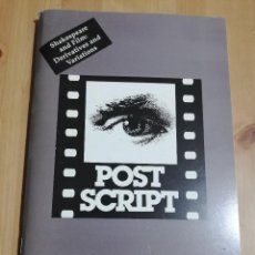 Cine: REVISTA POST SCRIPT. ESSAYS IN FILM AND THE HUMANITIES (VOLUME 17, NUMBER 2) 1998. Lote 221619962