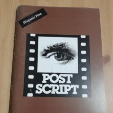 Cine: REVISTA POST SCRIPT. ESSAYS IN FILM AND THE HUMANITIES (VOLUME 16, NUMBER 1) FALL 1996. Lote 221620496