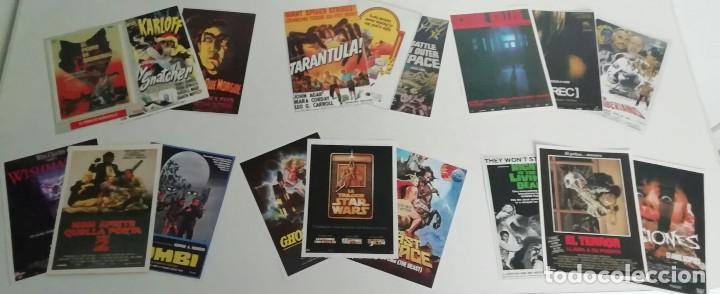 LOTE DE 110 REPRODUCCIONES DE CARTELES DE CINE. PELÍCULAS DE TERROR Y CIENCIA FICCIÓN (Cine - Reproducciones de carteles, folletos...)