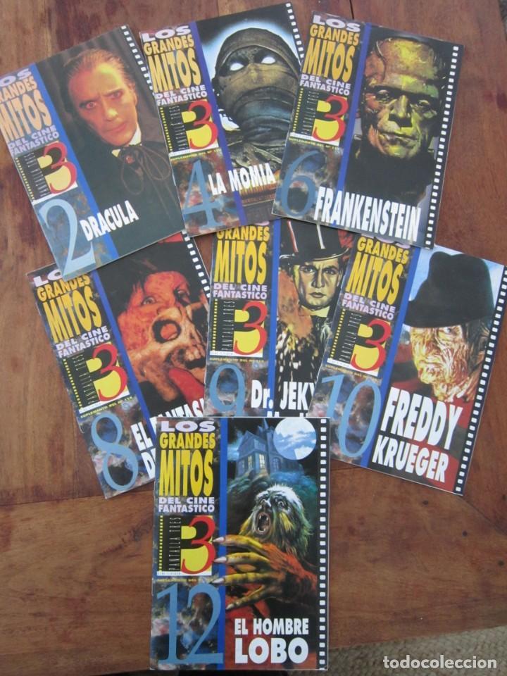 LOS GRANDES MITOS DEL CINE FANTÁSTICO - PANTALLA 3, 1992 .LOTE 7 FASCÍCULOS 2,4,6,8,9,10 Y 12. NUEVO (Cine - Revistas - Otros)