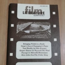 Cine: REVISTA LITERATURE FILM QUARTERLY VOL. 25, NO. 3 (1997) BRINGING WELSH TO A BOYLE / STONE'S DOORS. Lote 221723830