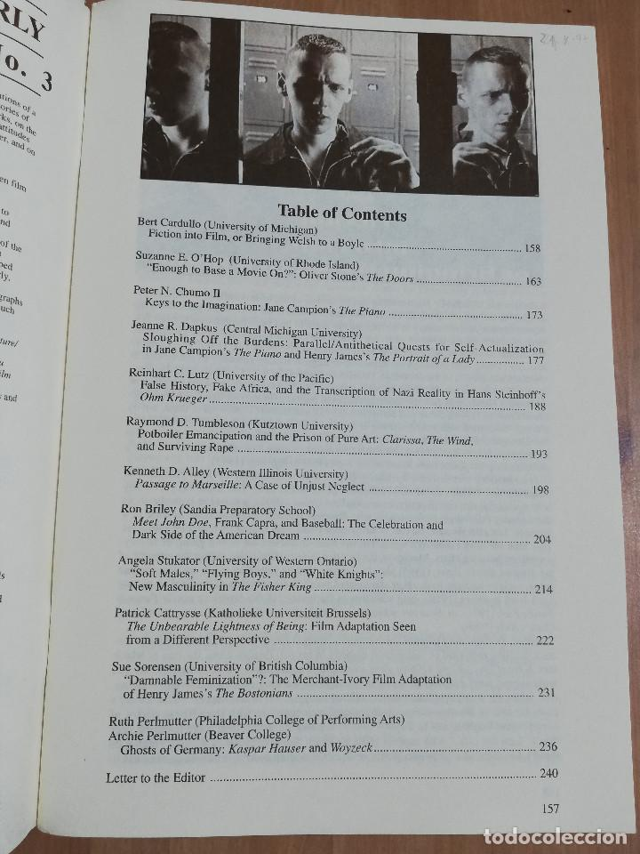 Cine: REVISTA LITERATURE FILM QUARTERLY VOL. 25, NO. 3 (1997) BRINGING WELSH TO A BOYLE / STONES DOORS - Foto 2 - 221723830