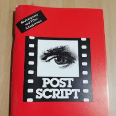 Cine: REVISTA POST SCRIPT. ESSAYS IN FILM AND THE HUMANITIES. VOLUME 17, Nº 1 (1997) SHAKESPEARE AND FILM. Lote 221724690