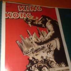 Cine: KING KONG - FICHA TÉCNICA - DIARIO 16 - 100 AÑOS DE CINE - SUS MEJORES CARTELES. Lote 221825482