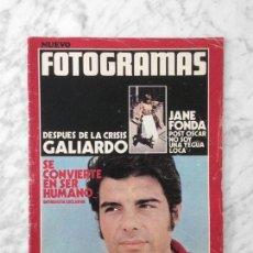 Cine: REVISTA FOTOGRAMAS - Nº 1230 - 1972 - JUAN LUIS GALIARDO, JANE FONDA, BEBA LONCAR, ELSA BAEZA. Lote 222052666
