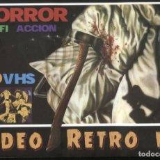 Cine: VIDEO RETRO NUMERO 1: CARATULAS CINE VHS HORROR-SCIFI ACCION. Lote 222125582