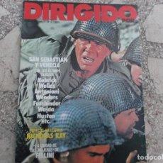Cine: DIRIGIDO POR Nº 76, ESPECIAL WESTERN /5,NICHOLAS RAY, FELLINI LA CIUDAD DE LAS MUJERES,SAN SEBASTIAN. Lote 222638902