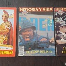Cine: REVISTAS - HISTORIA Y VIDA - CINE - 58 - EL CINE HISTORICO , 72 BELICO, 83 ESPAÑOL. Lote 222988758