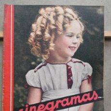 Cine: AAP43 SHIRLEY TEMPLE REVISTA ESPAÑOLA CINEGRAMAS Nº 16 DICIEMBRE 1934. Lote 223269581