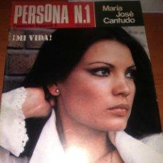 Cine: MARIA JOSE CANTUDO REVISTA PERSONA-1976-N-1-68 PAGINAS MUCHAS FOTOS-. Lote 223410986