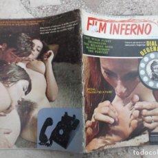 Cinema: REVISTA FILM INFERNO VOL-TWO Nº ONE,REVISTA EROTICA SOLO PARA ADULTOS ,FOTOS COLOR Y B/N, 1971. Lote 223446691