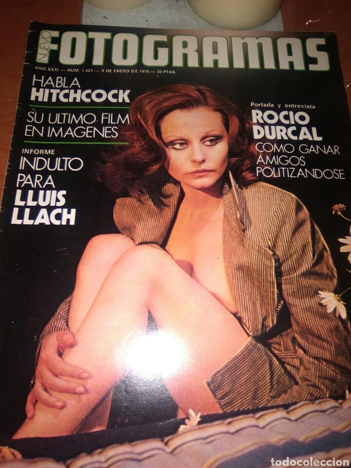ROCIO DURCAL-NUEVO FOTOGRAMAS-ENERO-1976-.PORTADA Y ENTREVISTA CON FOTOS-MUY INTERESANTE-ROCIO DURC (Cine - Revistas - Cinegramas)