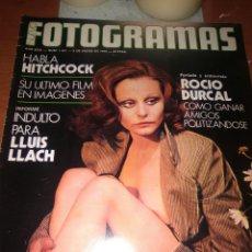 Cine: ROCIO DURCAL-NUEVO FOTOGRAMAS-ENERO-1976-.PORTADA Y ENTREVISTA CON FOTOS-MUY INTERESANTE-ROCIO DURC. Lote 223476880