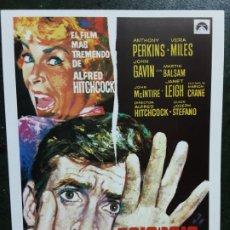 Cinéma: PSICOSIS, ALFRED HITCHCOCK, SENCILLO IMPRESO EN LOS AÑOS 80. Lote 223529842