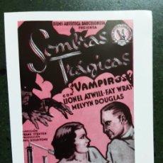 Cinéma: SOMRAS TRAGICAS, VAMPIROS? SENCILLO IMPRESO EN LOS AÑOS 80. Lote 223532392