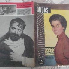 Cine: REVISTA ONDAS Nº 57, 1955, ENCARNITA PLANA, LUCA DE TENA. Lote 223575143